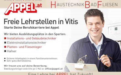 Freie Lehrstellen in Vitis!!!