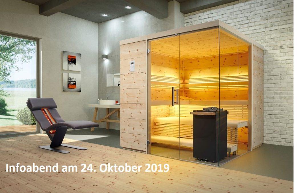 Sauna und Infrarot Infoabend bei Appel!